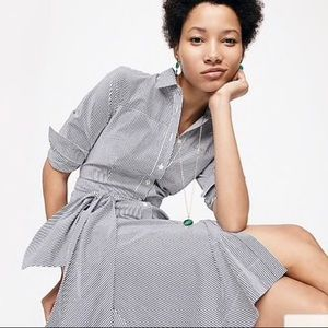 NWT J Crew Tie Waist Shirt Dress